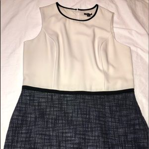 Ann Taylor dress with cream top and wool bottom.